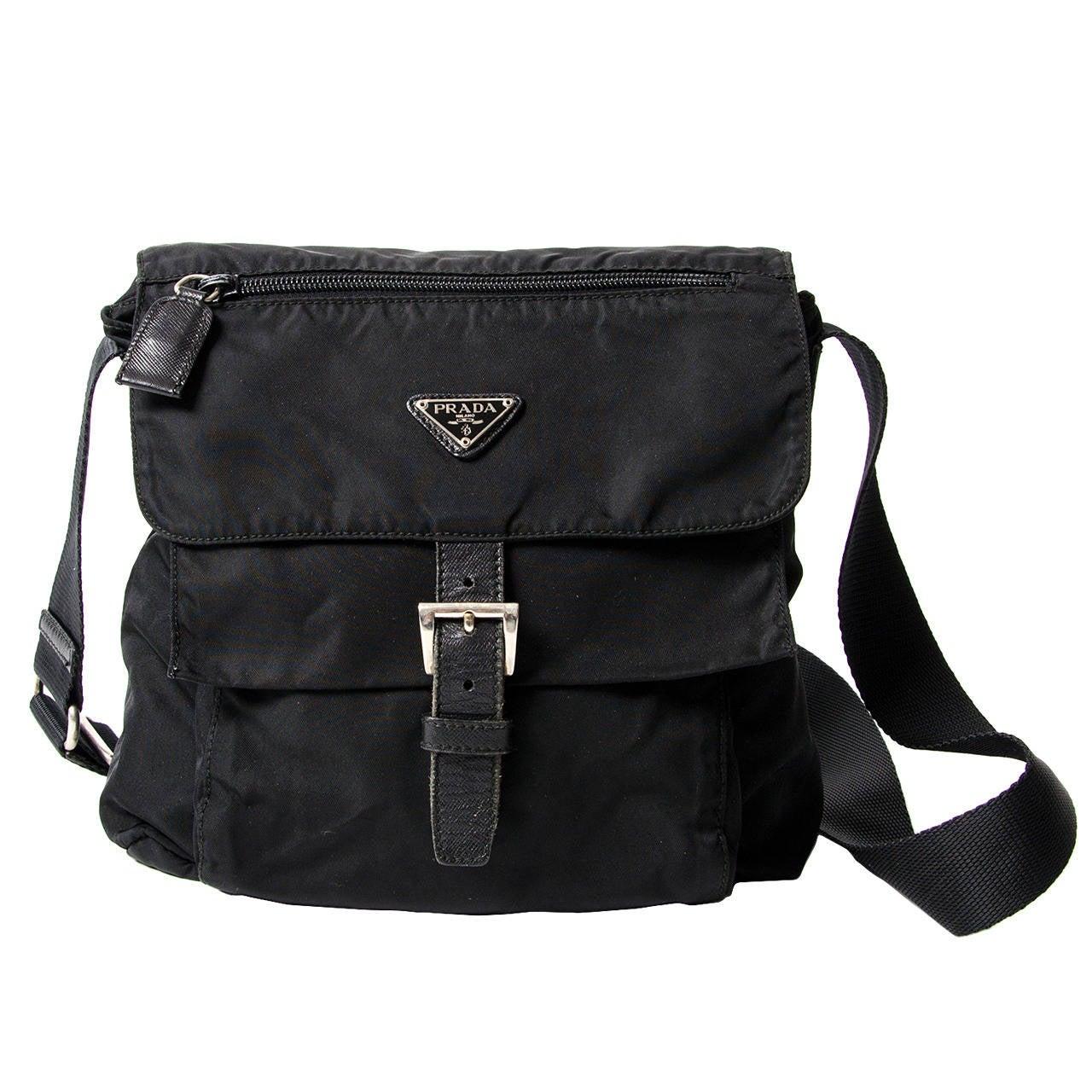 Prada Tessuto Messenger Bag at 1stdibs