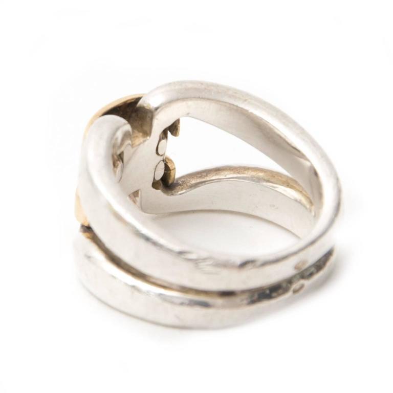 Hermes H Ring Silver