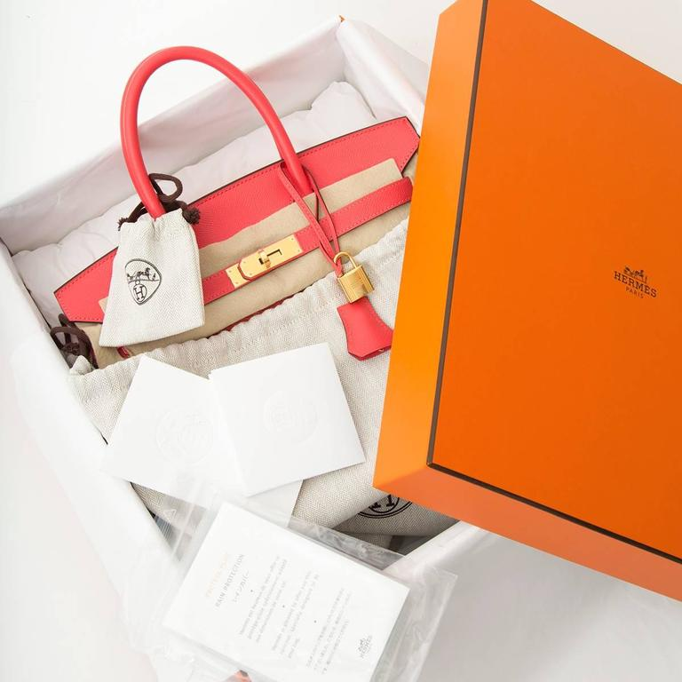 Hermes Birkin 30 Epsom Rose Jaipur  In New Condition In Antwerp, BE