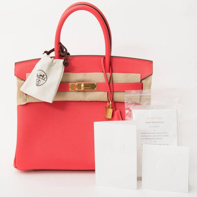 Women's Hermes Birkin 30 Epsom Rose Jaipur