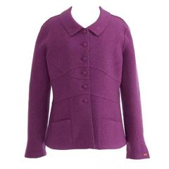 Chanel Violet Wool Blazer Coat