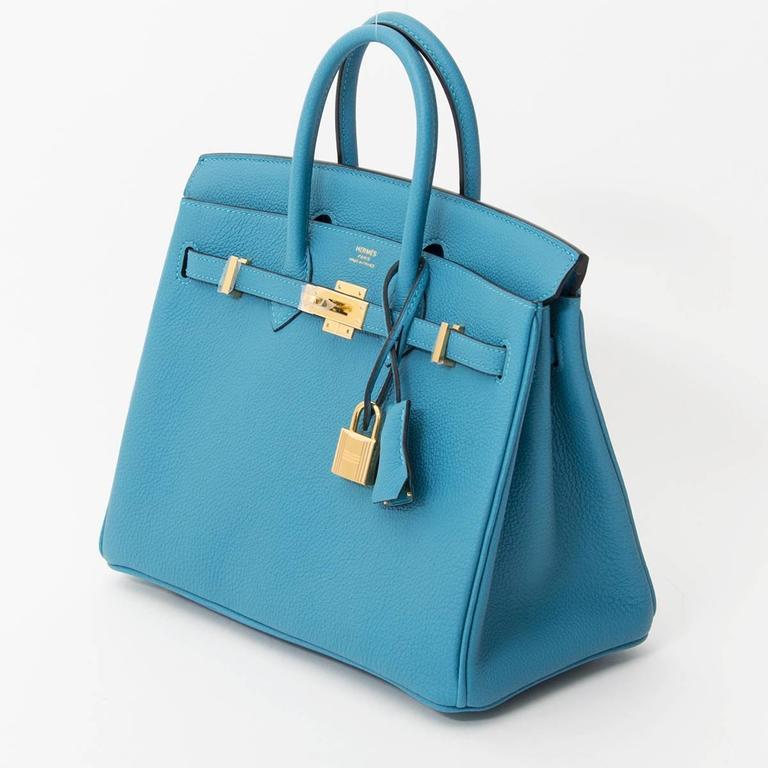 6570afd335b ... hot brand new hermès birkin 25 turquoise ghw hermès birkin bag in soft  and smooth togo