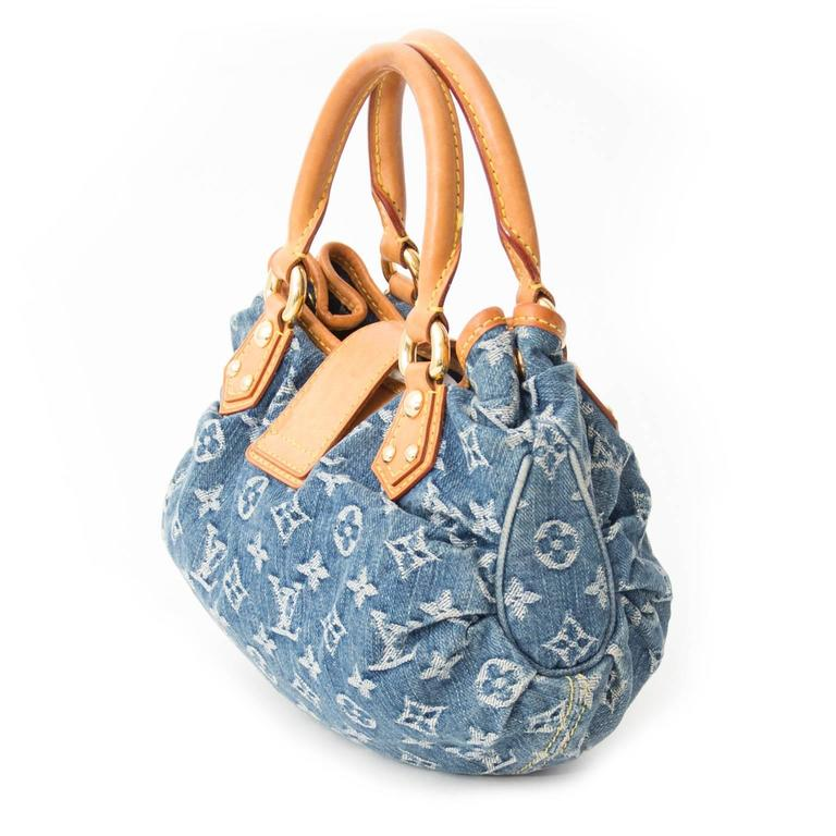 db6404edb81 Gray Louis Vuitton Mini Pleaty Denim Monogram Bag For Sale