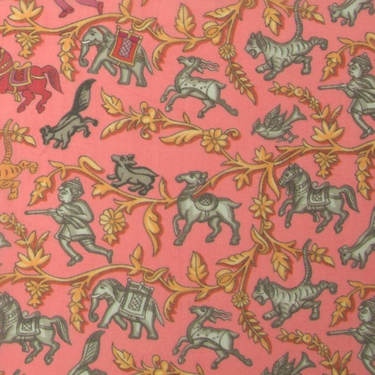Pink Hermès Mousseline Silk Scarf For Sale