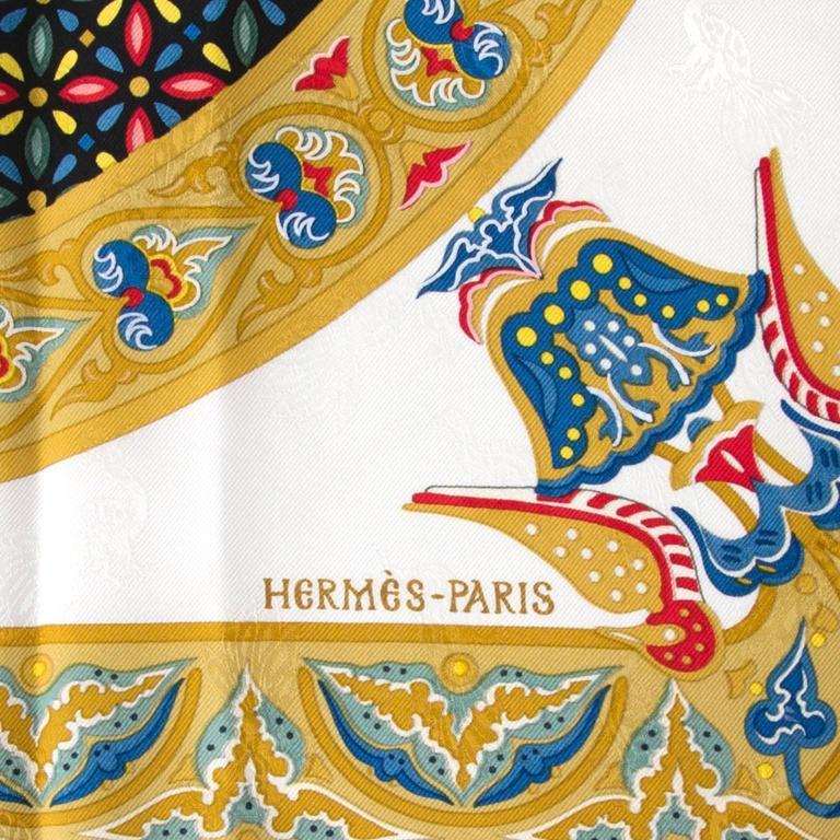 """Hermès Carré De Soie """"Ciels Byzantins""""  4"""