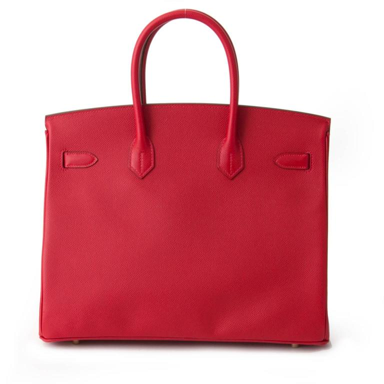 Women's  	Brand New Hermès Birkin Rouge Casaque Epsom 35 GHW For Sale