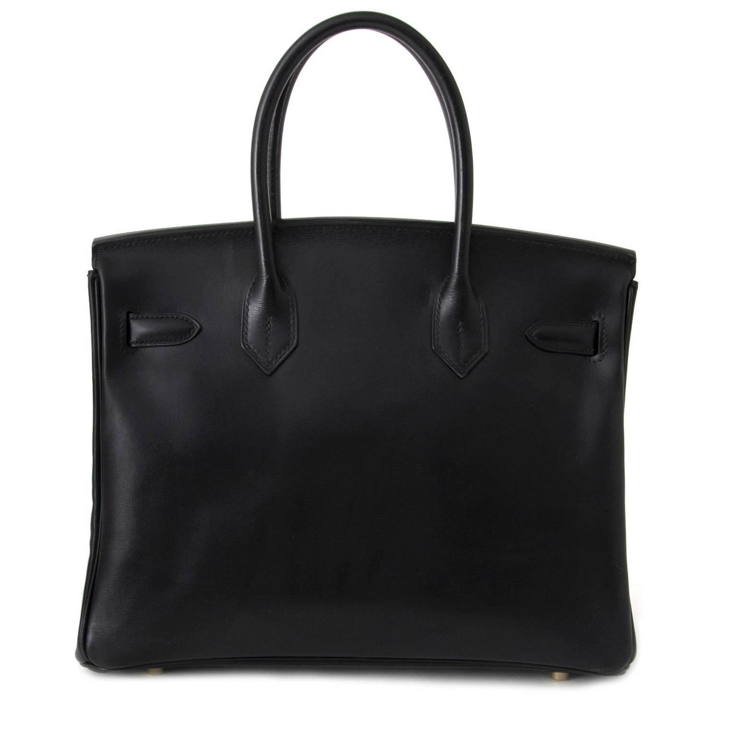 knock off purse parties - Hermes Black Birkin 30 Box Calf GHW For Sale at 1stdibs