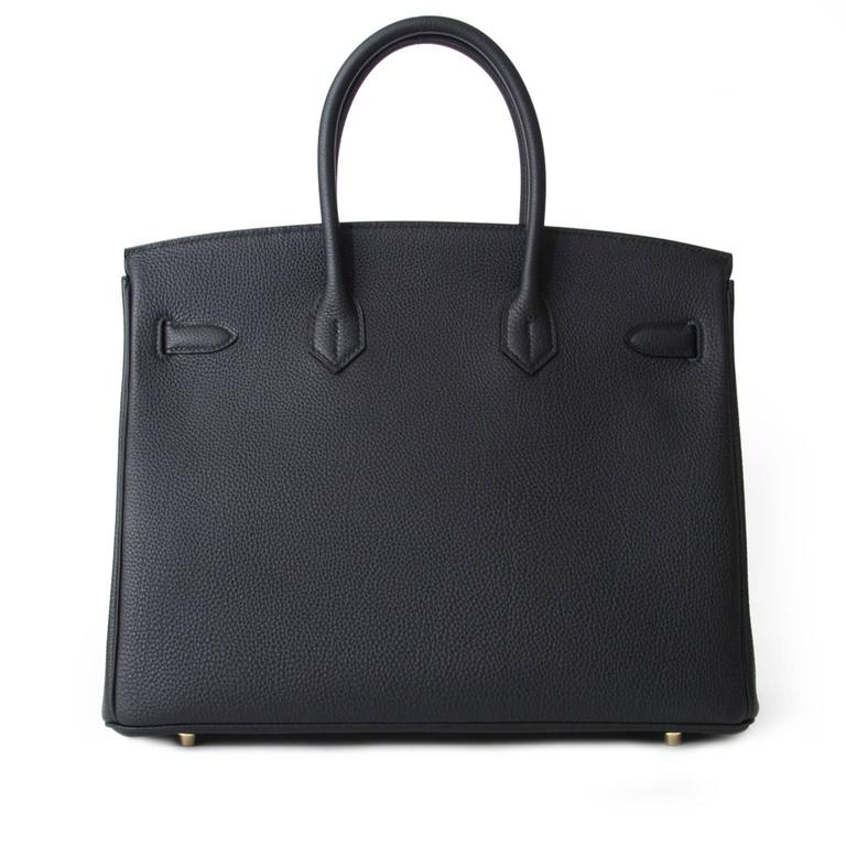 Women's or Men's Brand New Hermes Birkin Black Togo 35 GHW  For Sale
