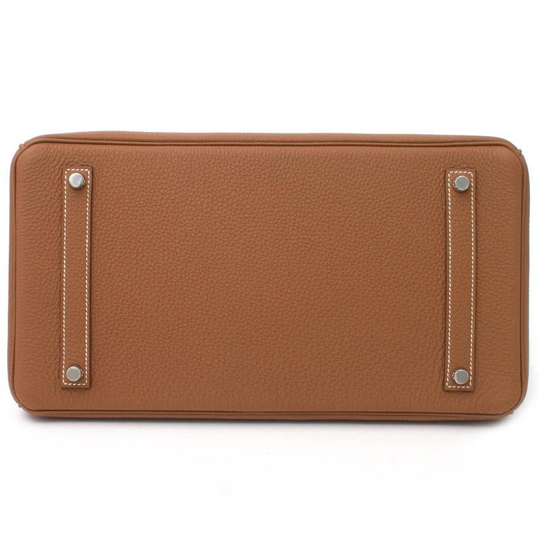 BRAND NEW Hermès Birkin Bag 35 PHW Togo Gold 3