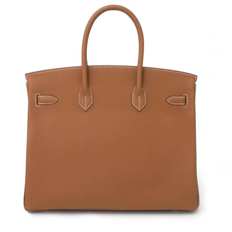 BRAND NEW Hermès Birkin Bag 35 PHW Togo Gold 5