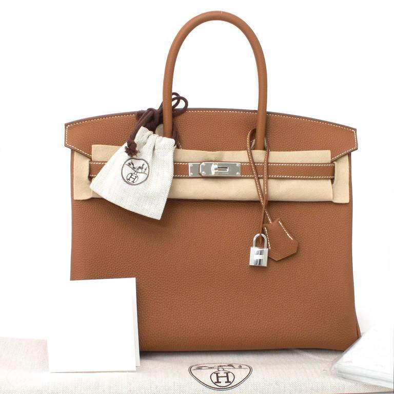 BRAND NEW Hermès Birkin Bag 35 PHW Togo Gold 6