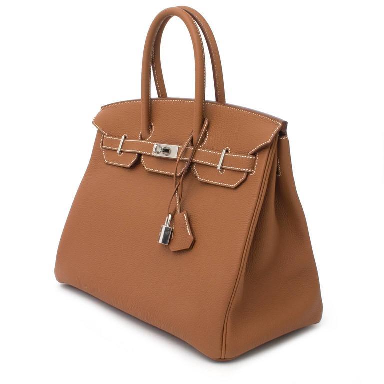 BRAND NEW Hermès Birkin Bag 35 PHW Togo Gold 7