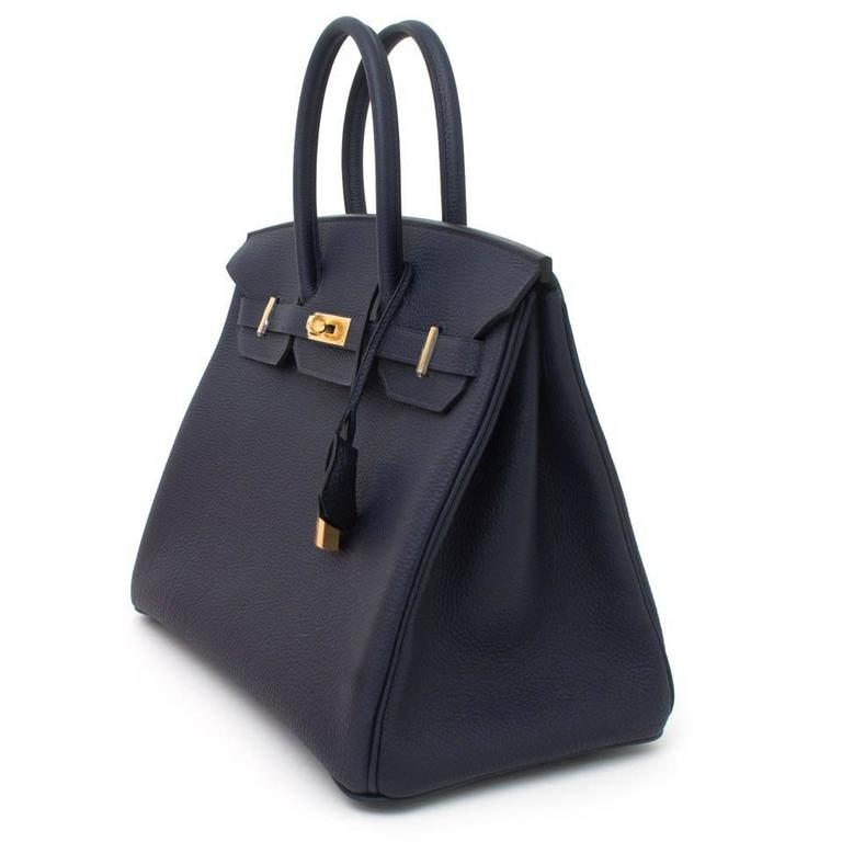 e62f269265b4 Black Brand NEW Hermes Birkin 35 Togo Blue Nuit For Sale