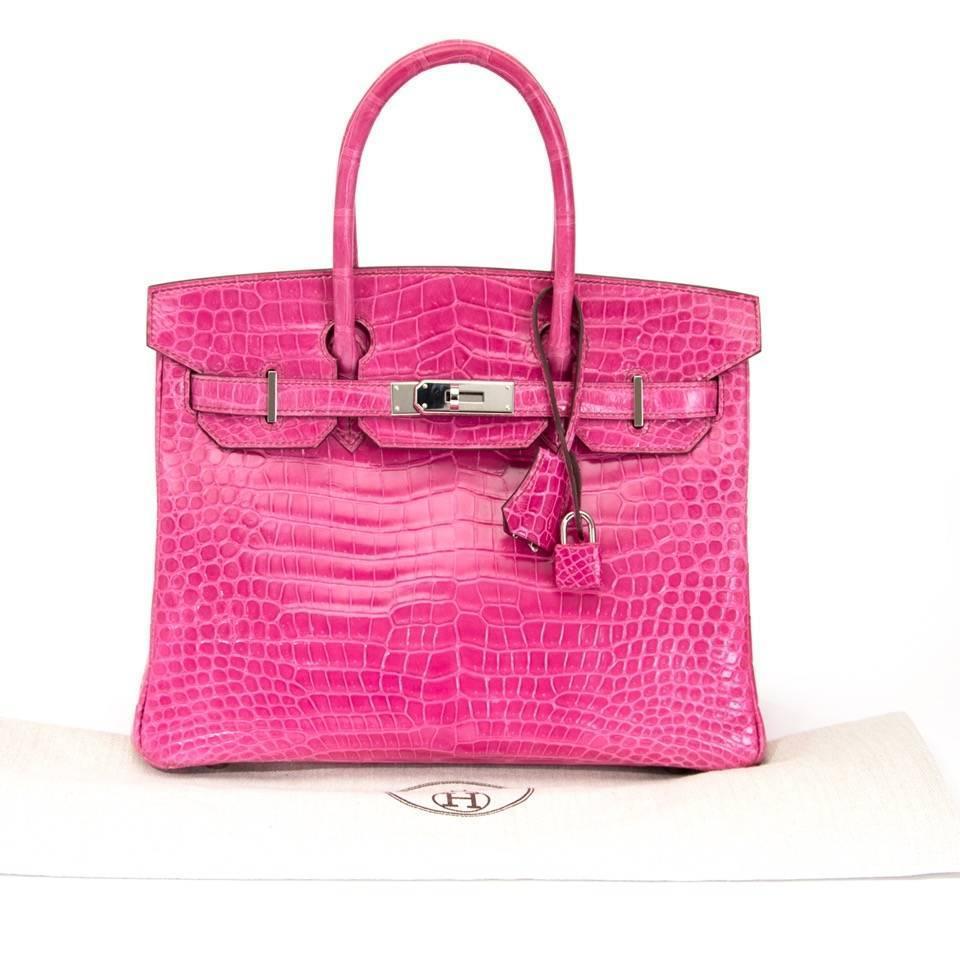 pink crocodile birkin bag - Vintage Herm��s Handbags and Purses - 1,362 For Sale at 1stdibs ...