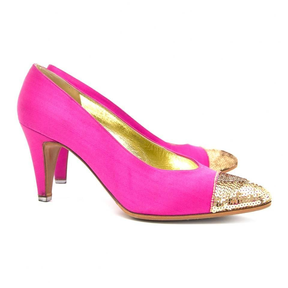 chanel pink pumps for sale at 1stdibs