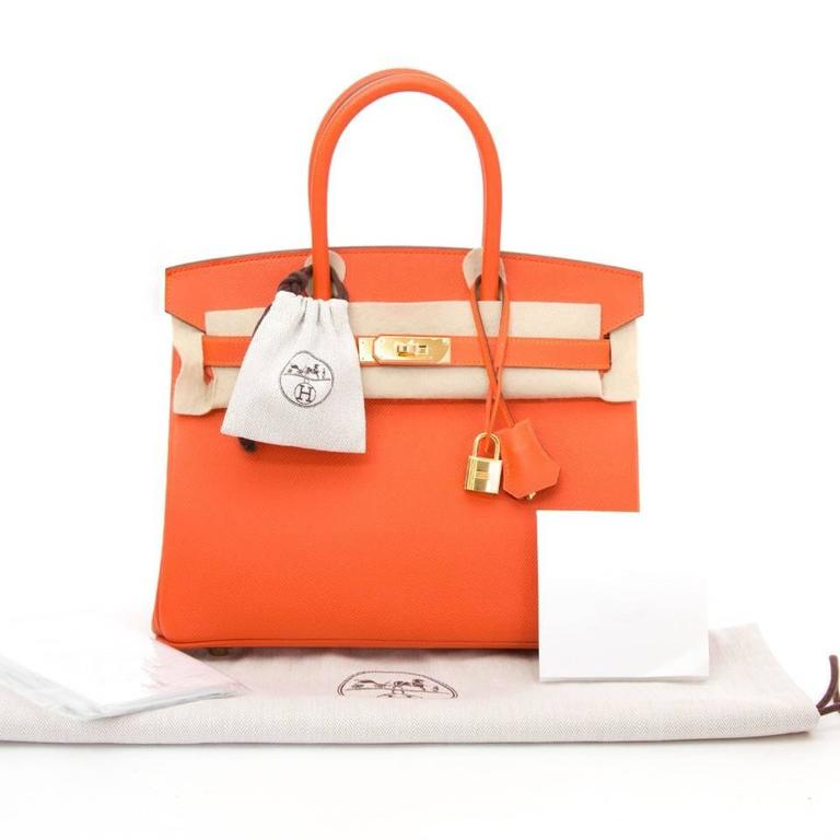 0f5c9abf2c1 Red Brand New Hermes Birkin 30 Feu Epsom GHW For Sale