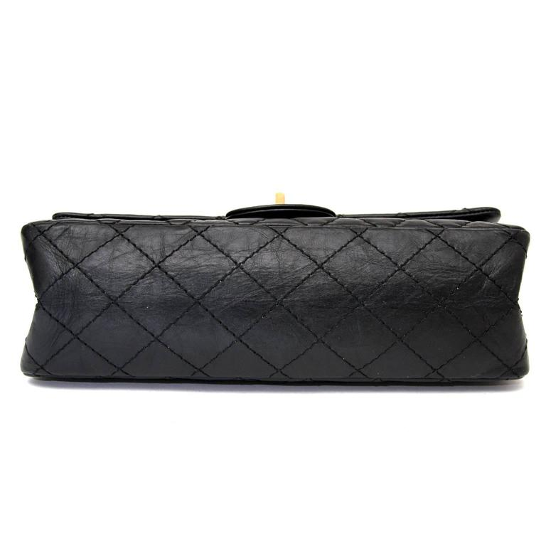 9e2c273ef64960 Chanel 2.55 Reissue 225 Double Flap Bag in Black In Excellent Condition For  Sale In Antwerp