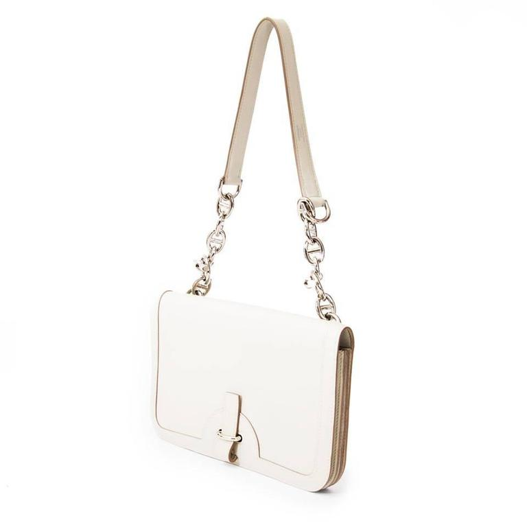 Hermes Chaine D'ancre Gris Perle Swift  For Sale 1