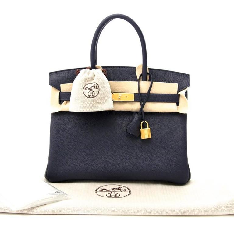 ... wholesale skip the waitinglist brand new birkin made out of togo  leather in dark blue. b3a1f15c99a66