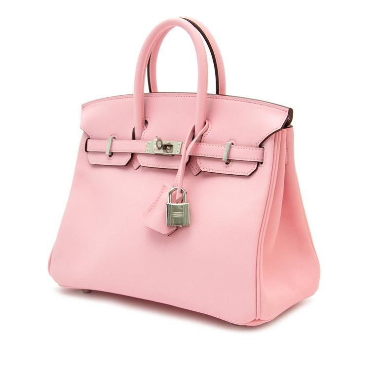 a1a208f567f Very RARE and Brand New Hermès Birkin Rose Sakura 25 at 1stdibs