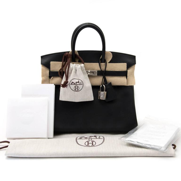 9fed379b8e0f4 ... coupon code for brand new hermès birkin black 25cm swift in new  condition for sale in