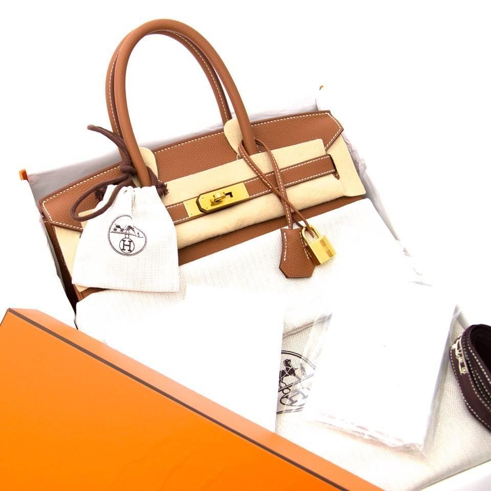 Brand New Hermes Birkin 30 Gold Togo GHW For Sale at 1stdibs