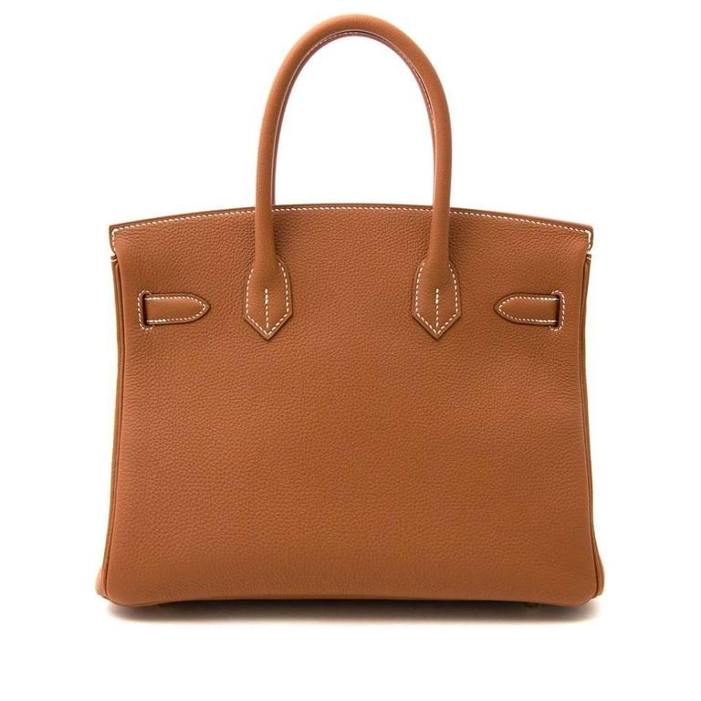 Women's Brand New Hermes Birkin 30 Gold Togo GHW