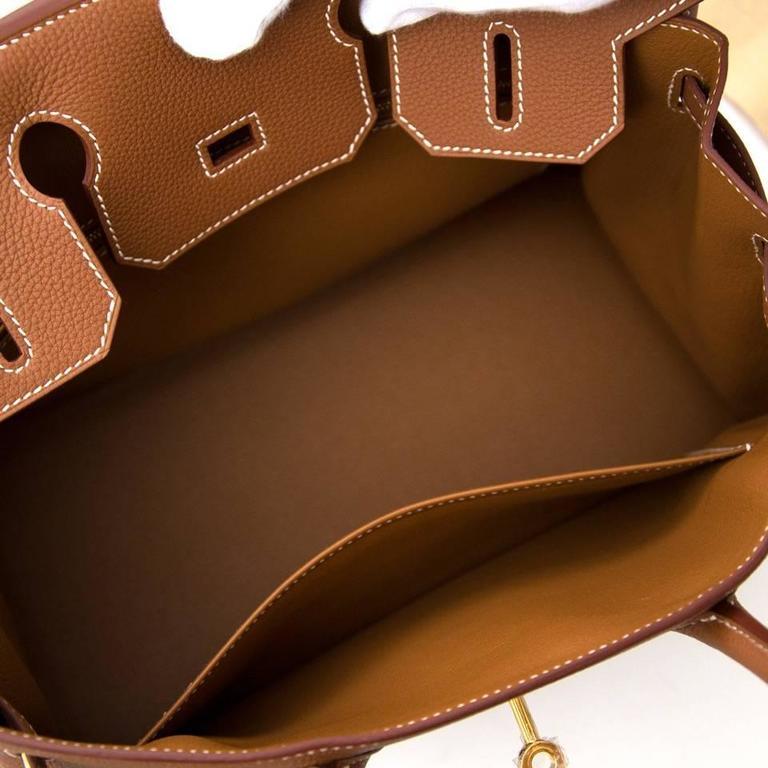 Brown Brand New Hermes Birkin 30 Gold Togo GHW