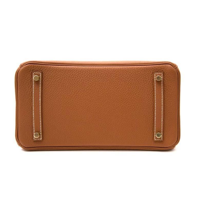 Brand New Hermes Birkin 30 Gold Togo GHW 2