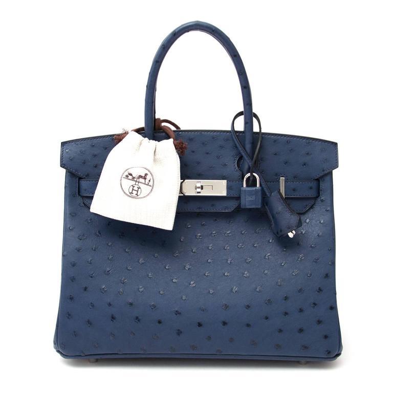 Hermes Ostrich Birkin 30 Bag