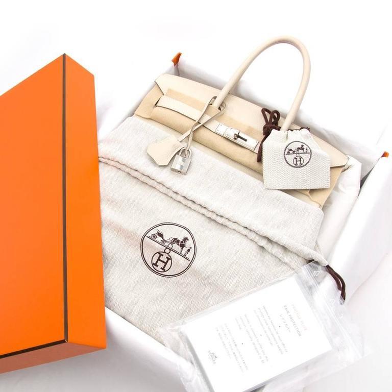 Hermès Birkin 30 Craie Veau Evercalf 4