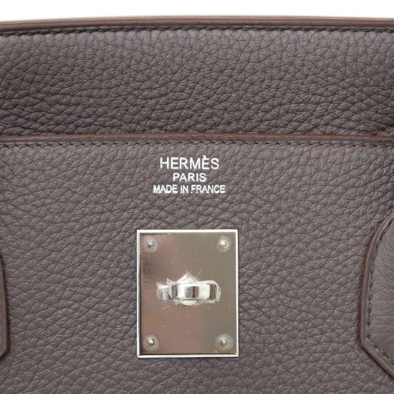 Brand New Hermes Birkin 40 Etaine Togo PHW  8