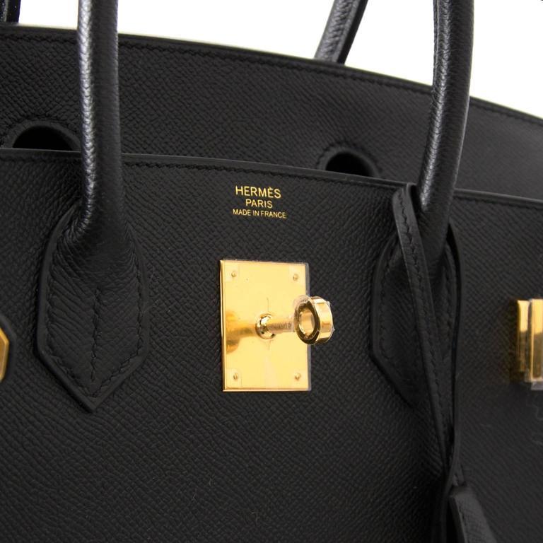 451b092ae4a Brand New Hermes Birkin 30 Black Epsom GHW at 1stdibs