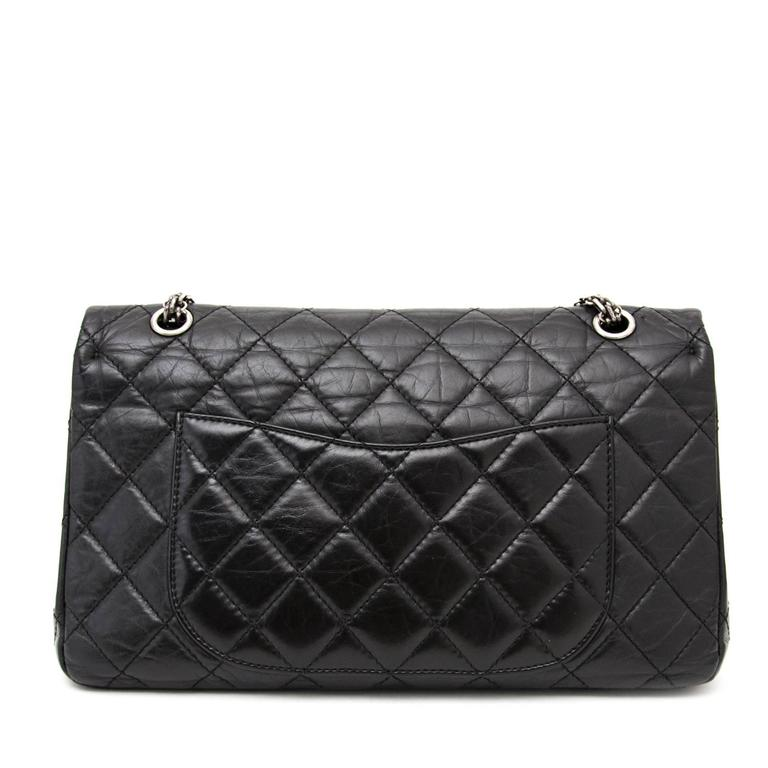 Chanel 2 55 Reissue 227 Black At 1stdibs