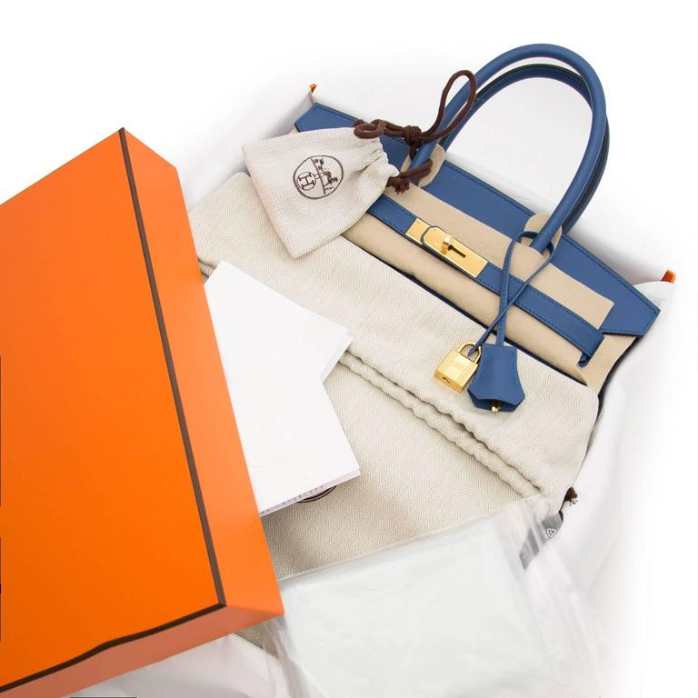 47d9fcdc92d5 Blue Brand New Hermes Birkin 30 Bleu Agate Epsom GHW For Sale