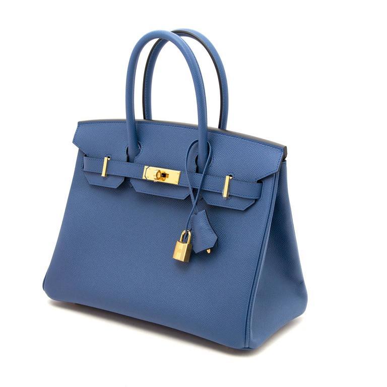 4c4361aaed6 Women s Brand New Hermes Birkin 30 Bleu Agate Epsom GHW For Sale