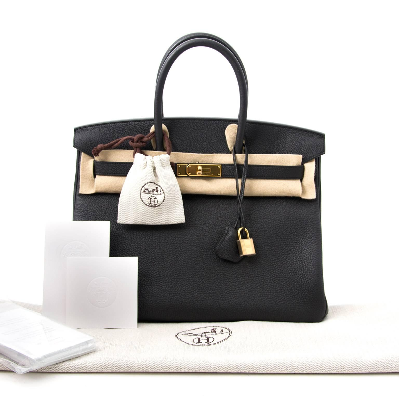 973a6a4edcdb Brand New Hermes Birkin Black Togo 35 GHW at 1stdibs