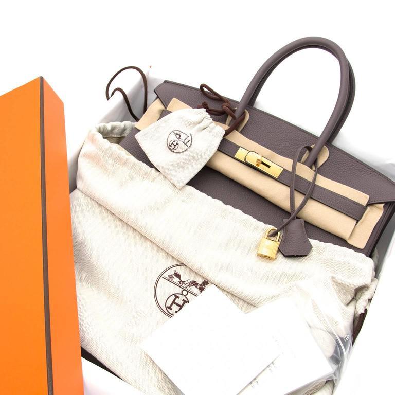 65d8e14531516 Brand New Hermes Birkin Etain Togo 35 GHW at 1stdibs