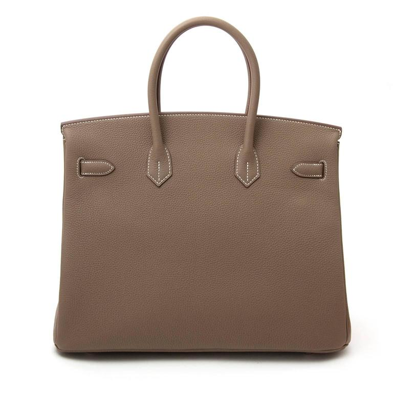 Women's  Hermès Birkin 35 Etoupe Togo PHW For Sale