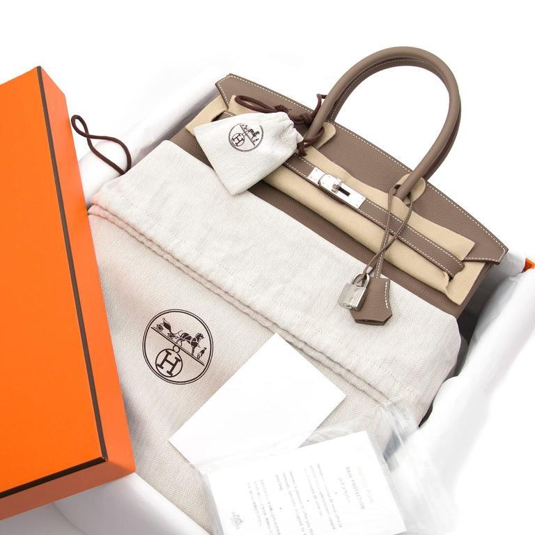 Hermès Birkin 35 Etoupe Togo PHW 9