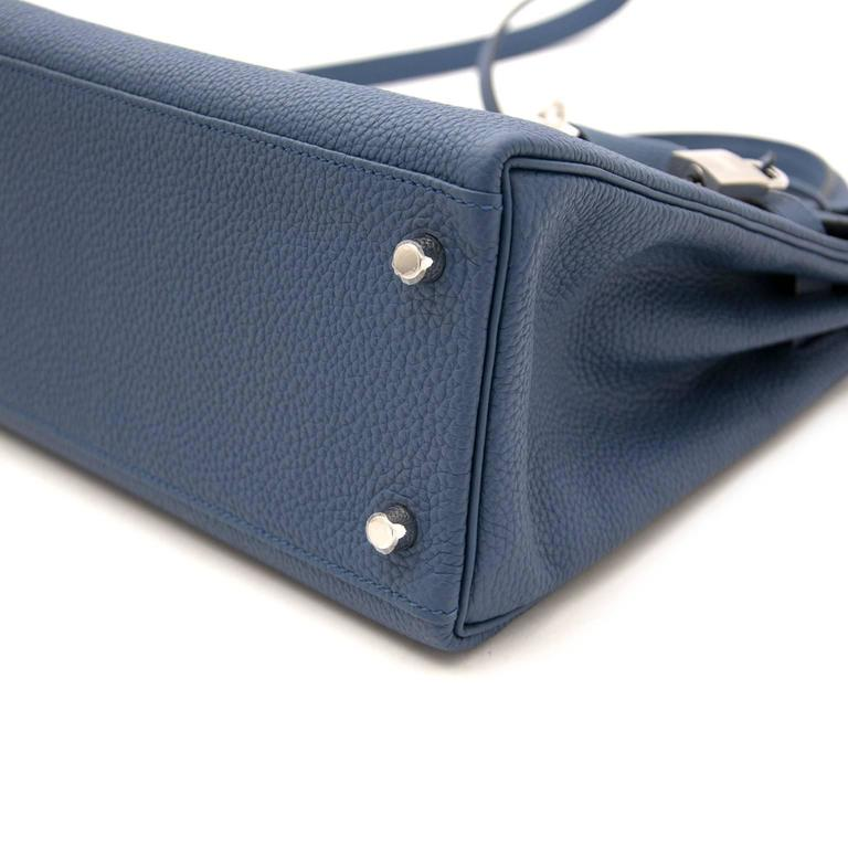 Brand New Hermes Kelly 28 Bleu Agate Togo PHW For Sale 1