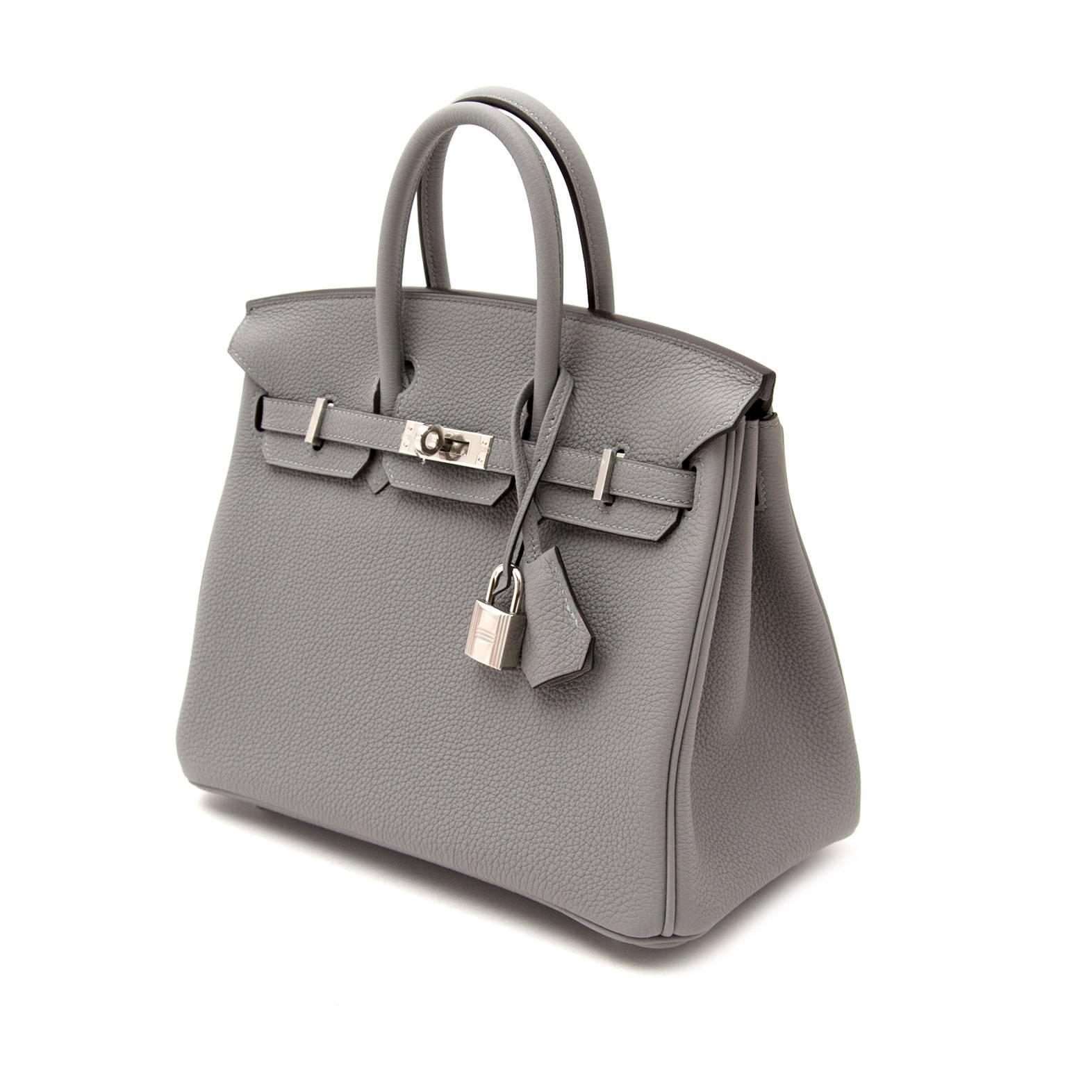 Brand New Birkin 25 Gris Mouette Togo PHW at 1stdibs d22890faba988