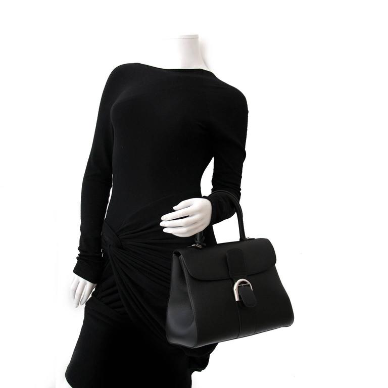 Brand New Delvaux Black Brillant MM PHW + STRAP In New Condition For Sale In Antwerp, BE