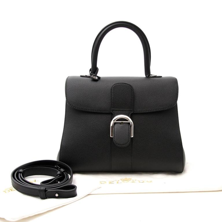 Brand New Delvaux Black Brillant MM PHW + STRAP For Sale 2