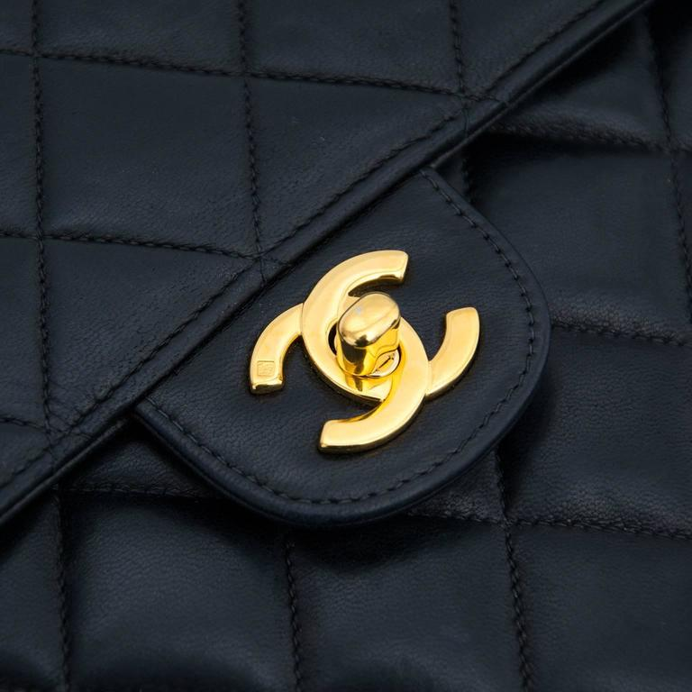 Vintage Chanel Lamskin Jumbo Flap Bag 7