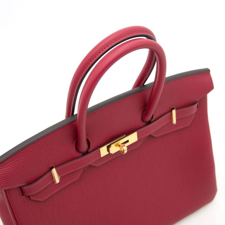Brand New Hermes Birkin Rouge Grenat 35 Togo  In New Never_worn Condition For Sale In Antwerp, BE