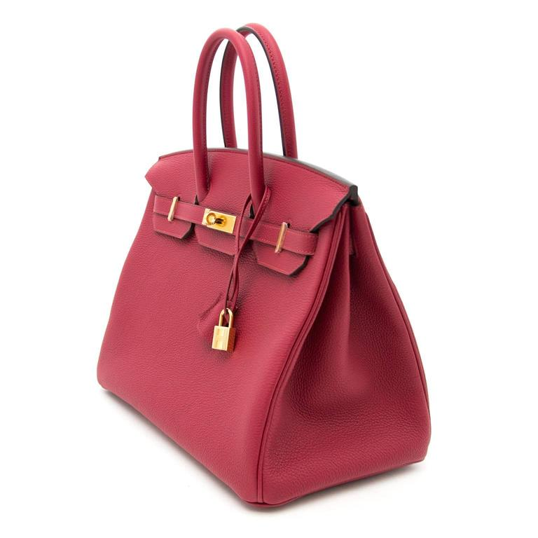 Women's Brand New Hermes Birkin Rouge Grenat 35 Togo  For Sale