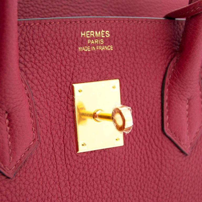 Brand New Hermes Birkin Rouge Grenat 35 Togo  For Sale 1