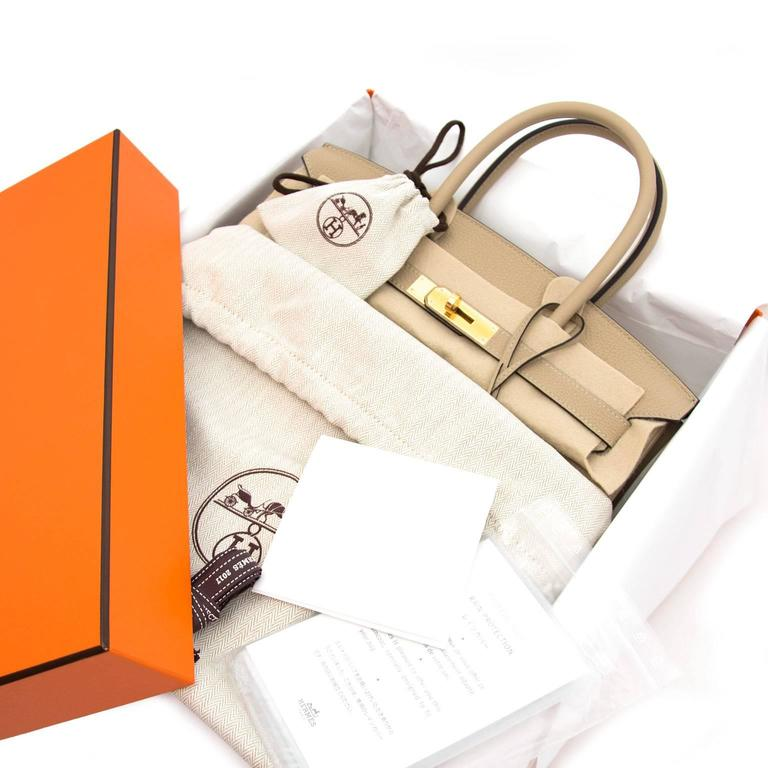 55a5ce9dd186b Beige Brand New Hermes Birkin 30 Togo Trench GHW For Sale