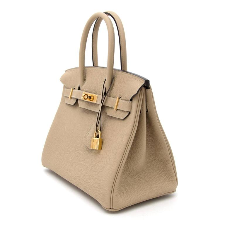 c3c7686d8658f Women s Brand New Hermes Birkin 30 Togo Trench GHW For Sale